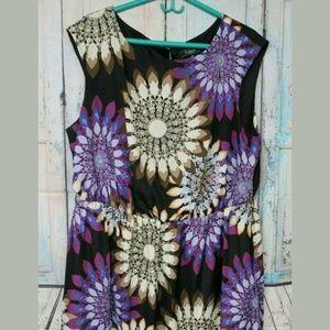 Lux II Woman 20W Purple Black Floral Dress